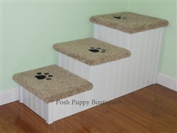 """Designer 24"""" Extra Wide 3-Step Dog Steps"""