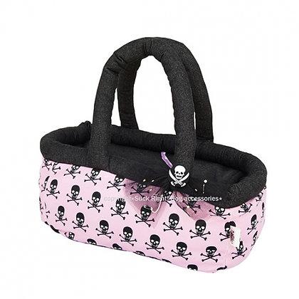 Pink and Skull Basket Dog Carrier