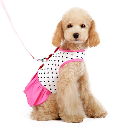 Easy D Ring Bow Dot Dog Dress