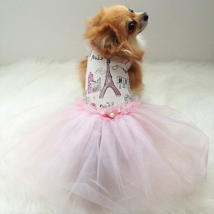 Ma Cherie Princess Paris Tutu Dog Dress