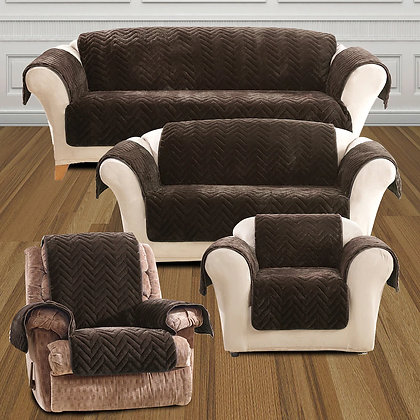 Sure Fit Faux Fur Quilted Slipcovers