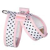 Pink Polka Dot Dog Harness