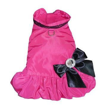 Ava City Dog Coat Hot Pink