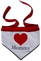 Heart Mommy Dog Scarf Bandana