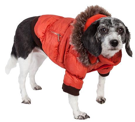Metallic Fashion Dog Ski Parka