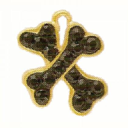 Gold Crystal Crossbone Dog ID Tag
