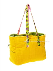Sweets and Cakes Dog Carrier Bag Sun Yellow