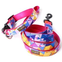 Geo Raspberry Collar