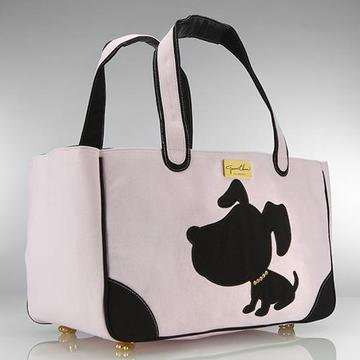 Jeanne Chinn Rescue Me Canvas Tote Carrier Pink