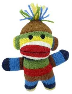Ziggy Sock Monkey Plush Dog Toy