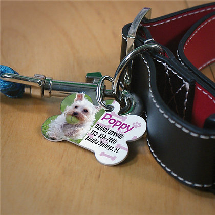 Personalized Paw and Bone Dog ID Tag