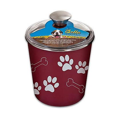 Bella Dog Treat Canister Merlot