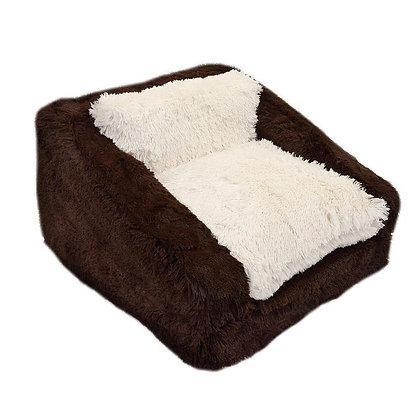 Shag Dog Sofa Bed Chocolate/Cream