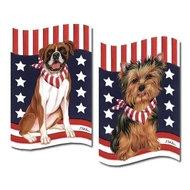 Patriotic Dog Breed Garden Flag