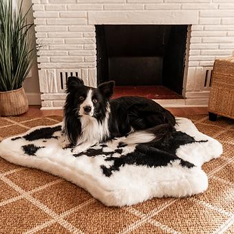PupRug Animal Print Memory Foam Dog Bed