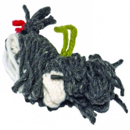 Hand Knit Shih Tsu Christmas Ornament