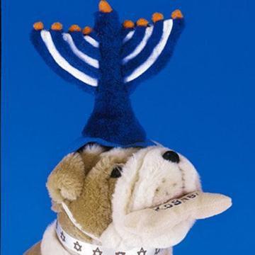 Menorah Dog Hat
