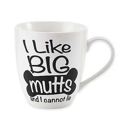 "Pfaltzgraff® ""I Live Big Mutts"" Coffee Mug White"