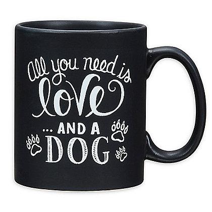 Love And A Dog Coffee Mug Black