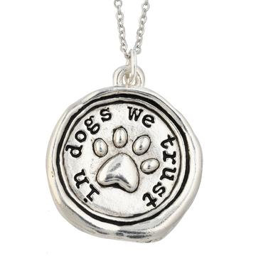 In Dogs We Trust Necklace