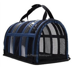 The Puppy Shell Pet Carrier Rainbow Line Navy Blue