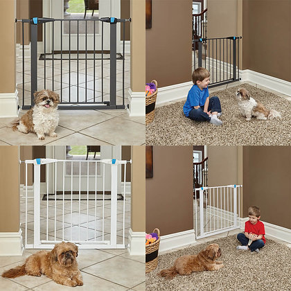 Steel Pet Gate With Glow-In-The-Dark Accents