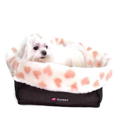 Angel Heart Fur Basket Dog Bed