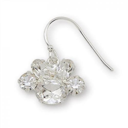 Paw Crystal Earrings