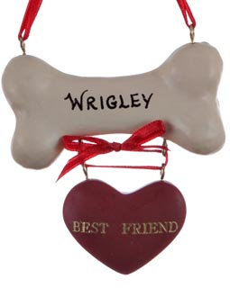 Best Friend Dog Christmas Ornament