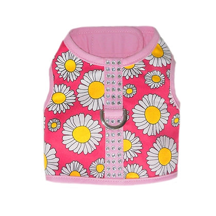 Daisy Dog Harness Pink and Yellow