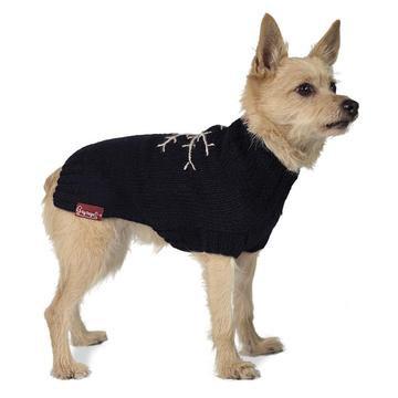 Snowflake Dog Sweater Black
