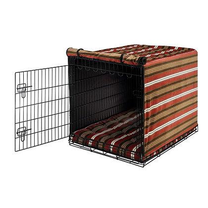 Bowser Stripe Microvelvet Dog Crate Cover