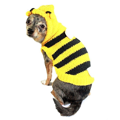 Chenille Bumble Bee Dog Sweater