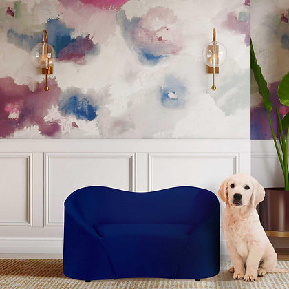 Poodle Dog Sofa Bed Navy