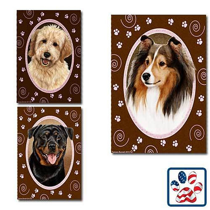 Pink Paws Dog Breed Flag