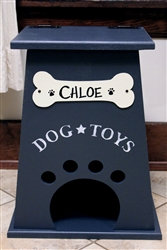 Personalized Dog Toy Box Navy