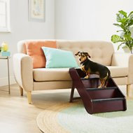 Frisco Deluxe Foldable Wooden Carpeted Dog Steps