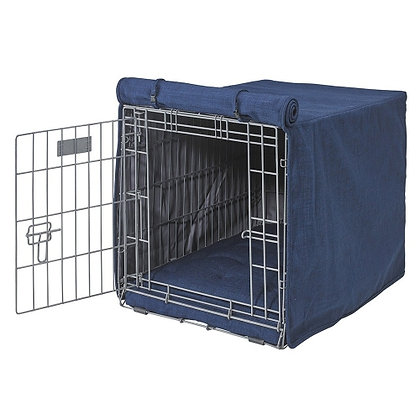 Midnight Microlinen  Dog Crate Cover