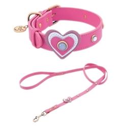 Heart Leather Collar