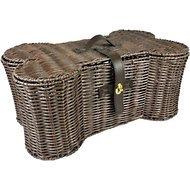 Bone-Shaped Wicker Dog Storage Basket