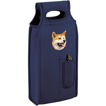 BirdDawg Embroidered Samba Dog Breed Wine Tote