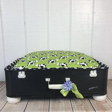 Pet Suitcase Dog Bed Moooooo