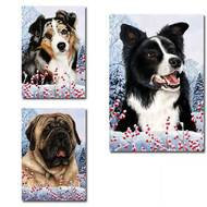 Winter Berries Dog Breed Flag