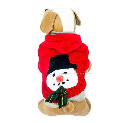 Snowman Hooded Dog Pullover