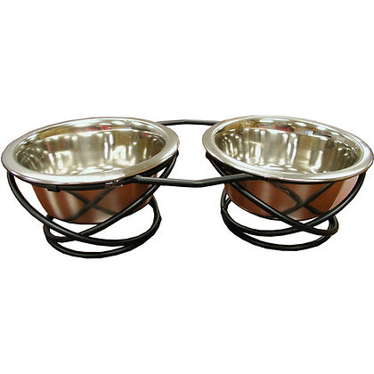 IndiPets Wrought Iron Double Dog Diner