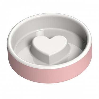 Naturally Cooling Dog Food Bowl Pink