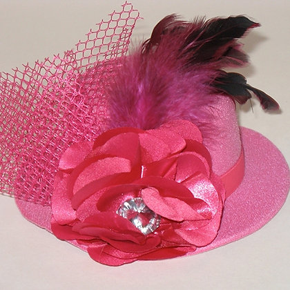 Hot Pink Ladies Day Out Dog Hat