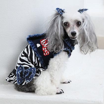 Diva Zebra Dog Dress