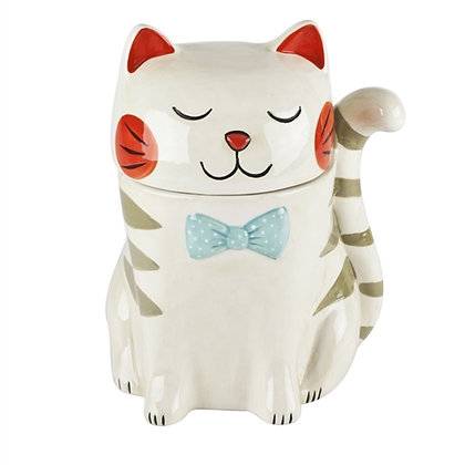 Ceramic Feline Treat Jar