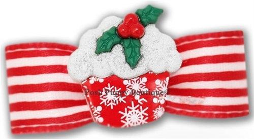 Snowcake Christmas Dog Hair Bow